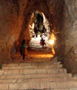 Yaganti Cave steps